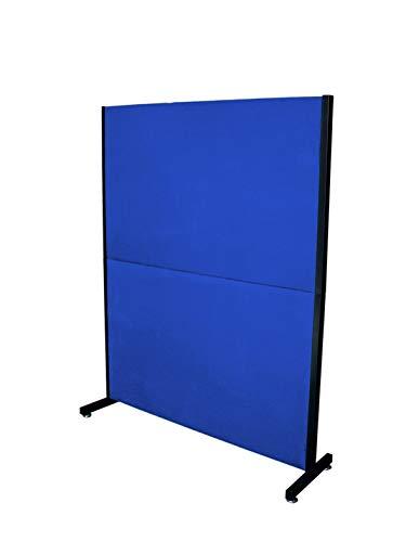 PIQUERAS Y CRESPO Modelo Valdeganga - Biombo separador para oficinas y centros de trabajo, desmontable y con estructura de color negro - Tapizado en tejido ARAN color azul