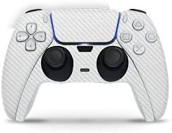 Playstation 5 Controller Skin Carbon Wit Sticker