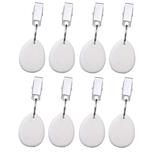 Pendentif Teardrop Table Nappe couverture Poids Cintres jardin Clips de pique-nique blanc 8PCS Gadget