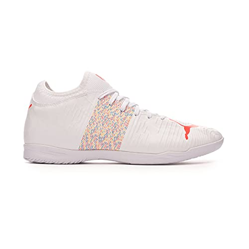 Puma Future Z 4.1 IT, Zapatilla de fútbol Sala, Puma White-Red Blast, Talla 9.5 UK (44 EU)