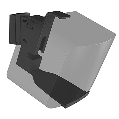 WALI Speaker Wall Mount Brackets for SONOS Play 5 Gen2 Multiple Adjustments, Hold up to 16 lbs, 7 kg, (SWM002), 1Pack, Black
