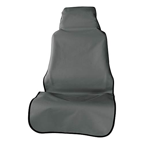 ARIES 3142-01 Seat Defender 58-Inch x 23-Inch Grey Universal Bucket Car Seat Cover Protector