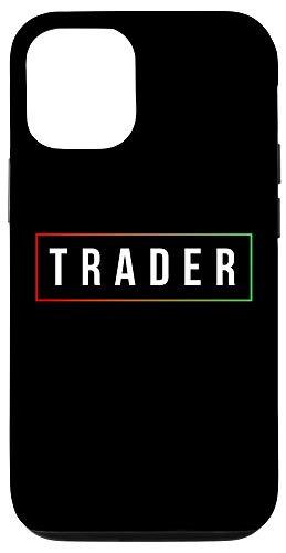 31ReFBd415L - iPhone 12/12 Pro Minimal Simple Day Trader Trading Stock Market Gift Case