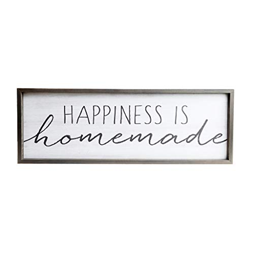 Happiness is Homemade Rustic Wood Framed Wall Art Décor, 12x36