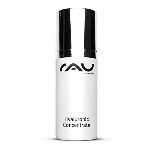 Hyaluronic Concentrate 30ml von RAU Cosmetics | Hyaluron Serum Hochdosiert | Vegan | Hyaluronsäure, Panthenol, Roote Beete, Maisstärke | Feuchtigkeit & Anti-Aging für trockene, reife Haut, Mischhaut