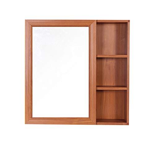 Badkamer kast/muur gemonteerde opbergkast met spiegel en opbergplank, medicijnkastje, ruimte aluminium.
