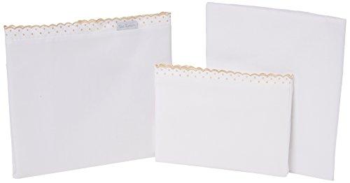 Petit Lazzari LLuvia Lot de 3 draps pour berceau Beige 70 x 140 cm