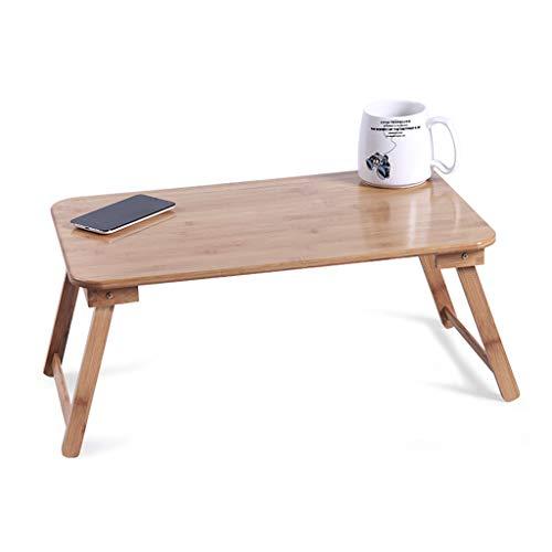 Laptop Schreibtisch Lapdesks Klappbett Kleiner Tisch Tragbarer Bambus Frühstückstablett Kinder Lernen Bücherregal Mit Cup Slot, Robust Und Stabil