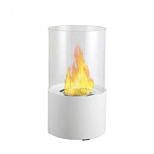 APQMR Tischfeuer Ethanol Outdoor Amerikanischer Desktop Ethanol Kamin Dekoration Rauchlos Kleine Echte Flammende Alkohol Tischplatte Kamin Ornament-Weiß