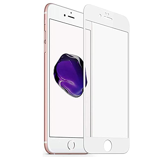 WOZTI Premium 11D Tempered Glass for iPhone 6 / iPhone 7 / iPhone 8 Screen Protector for iPhone SE/iPhone 6s Screen Protector Full HD Quality Edge to Edge Coverage (White)
