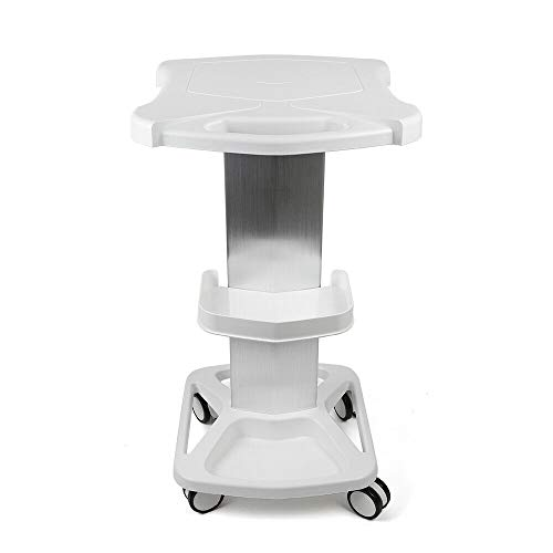 Salon Trolley, Salon Special Cart, Aluminum Alloy Trolley Mobile Stand Assembled For Ultrasonic Cavitation RF Machines Salon Spa Beauty Tattoo Cart Rolling Trolley Hair Instrument Storage Tray (White)