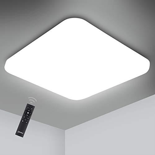 Oeegoo - Regulable Lámpara de techo, LED Plafón 24W 2050LM para Dormitorio Cocina Sala de Estar Comedor Balcón Pasillo RA>80 (color de luz regulable 3000K a 6000K, brillo ajustable 10% a 100%)