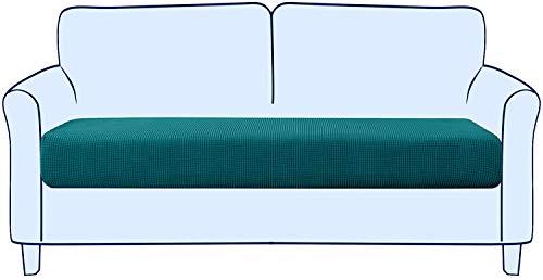 subrtex Funda para Asientos de Sofá Elástica Protector de Cojin de Asiento Separados para Sillón Lavable en La Lavadora(2 Plazas, Azul Verde)