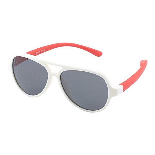 CGID CGID Gummi Flexible Kinder Polarisierte Fliegerbrille Pilotenbrille für Baby und Kinder im Alter von 3-6, K93