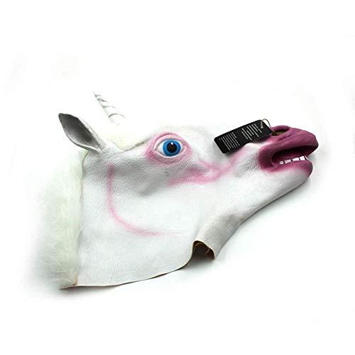 WZYWSJ Halloween Einhorn Maske Tierkopf Maske Mascara Latex Für Festival Oder Dance Party Kostüm...