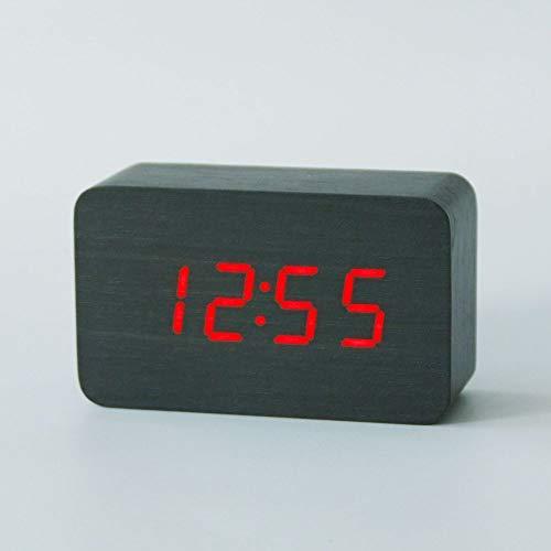 LED Uhr Tischuhr Digital Wanduhr 3levels Brightness Alarm Snooze Wecker 5v//500mA