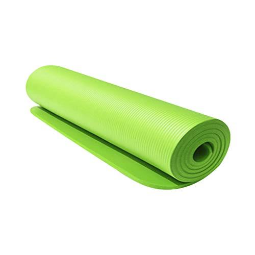 Joycaling Yoga Mat183 cm Esterilla de yoga 10 mm de grosor, alta densidad, antidesgarros y antideslizante, para principiantes y yogis avanzados (tamaño: 183 cm, color: verde)
