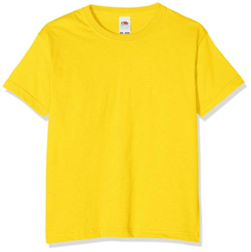 Fruit of the Loom Value T, Camiseta Niño, Amarillo (Sunflower Yellow), 5-6 años