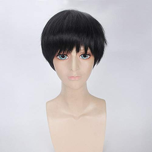 Anime Tokyo Ghoul Ken Kaneki White Black Short Wig Cosplay Costume Ken Kaneki Heat Resistant Synthetic Hair Men Cosplay WigsBlack