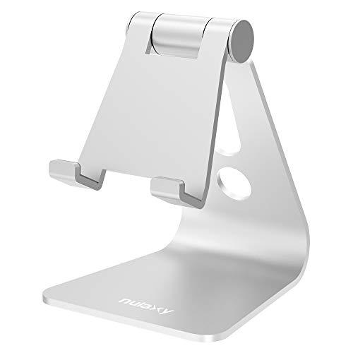 nulaxy スマホスタンド アルミ 角度調整可能 iphone スタンド 充電可能 「4~10インチ対応」 iPhone, iPad,...