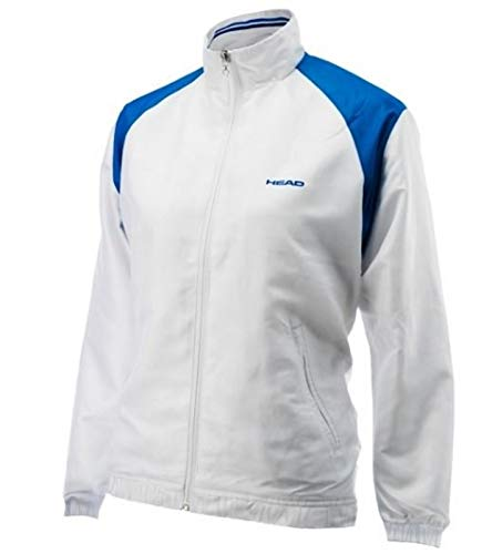 HEAD Veste de Tennis Veste Softshell Enfant Coupe-Vent Club Cooper Junior Veste All Season Blanc/Bleu, Taille:128
