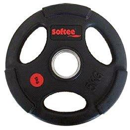 Softee - Disco Olimpico Uretano Color Negro Talla 5 Kg