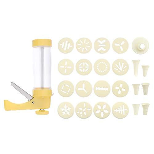 Hemoton Kit de Prensa de Galletas DIY Biscuit Boquillas para Hacer Galletas Kit de Jeringa de Tubería de Galletas Flor Boca Chorro para Cupcake Hornear Herramienta de Decoración de