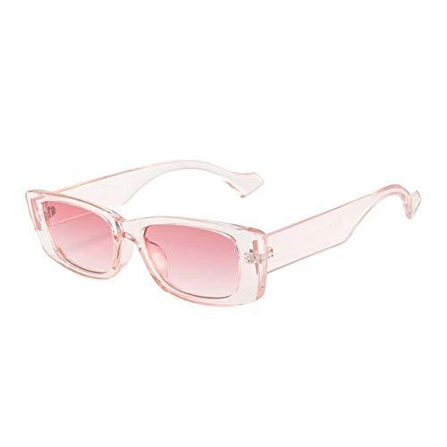 CGQDDP Gafas de Sol rectangulares pequeñas Retro para Mujer Gafas de Color Caramelo Gafas de Sol cuadradas para Hombre Gafas de Sol