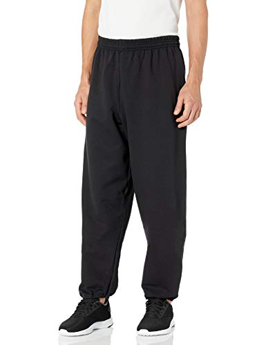 Hanes Men's EcoSmart Fleece Sweatpant, Black, XL