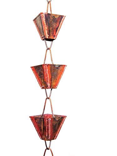 u-nitt 8–1/2Füße reines Kupfer regen Kette: XL quadratisch Cup Uni 8,5ft Länge # 3121url