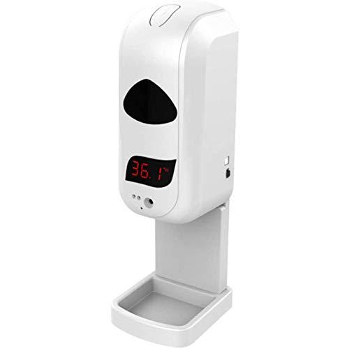 Termometro Frontale a infrarossi a Parete 2 in 1 Dispenser di Sapone Automatico Macchina 1200ml Sapone con Allarme di Febbre a Lettura istantanea accurata 0,5 S per la Fabbrica