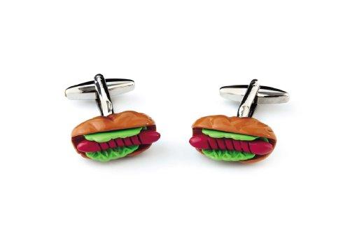 Sologemelos - Boutons De Manchette Hot Dog - Vert, Rouge, Marron - Hommes - Taille Unique