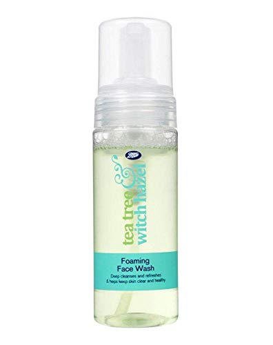 Boots Tea Tree and Witch Hazel Foaming Face Wash 150ml - Helps Keep Skin Clear and Healthy