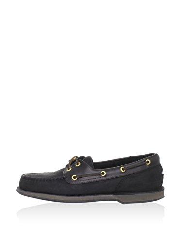 Rockport Men's Perth Boat Shoe,Black/Bark,11 M US