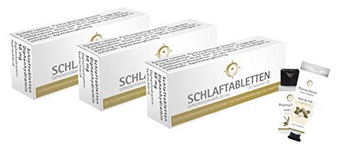 Schlaftabletten von Pharma Nature (gleicher Wirkstoff wie Vivinox) - Sparset mit 3 x 20 Tabletten inkl. Handcreme ODER Handseife von Pharma Nature | Zur Kurzzeitbehandlung von Schlafstörungen