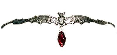 Vampire Bat Headpiece with Red Stone