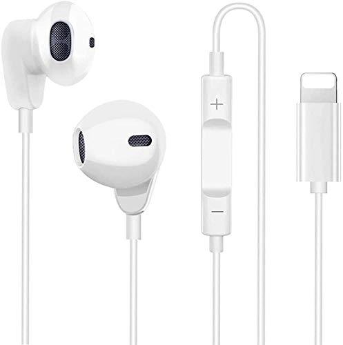 ZERKAR In-Ear Kopfhörer für iPhone 12,Audio Stereo Kopfhörer für iPhone Sport Ohrhörer mit Mikrofon Fernbedienung Controller kompatibel mit iPhone X/XS (Max)/XR/8/8 Plus/7/7 Plus(Bluetooth-Verbindung)