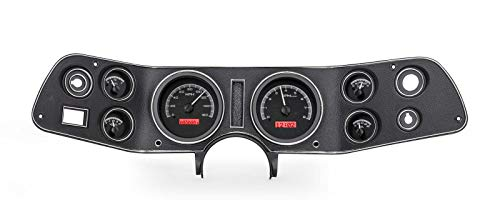 Dakota Digital 70 - 81 Chevy Camaro VHX System Analog Dash Gauges Black Alloy Red VHX-70C-CAM-K-R