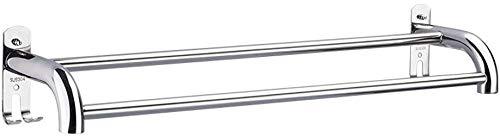 Gestell aus Aluminium Handtuch Single Double Rod Badezimmer Wandhalter Corner Schwimm Badkugel Shelf -712 (Farbe: Doppel-polig Größe: 60 cm)