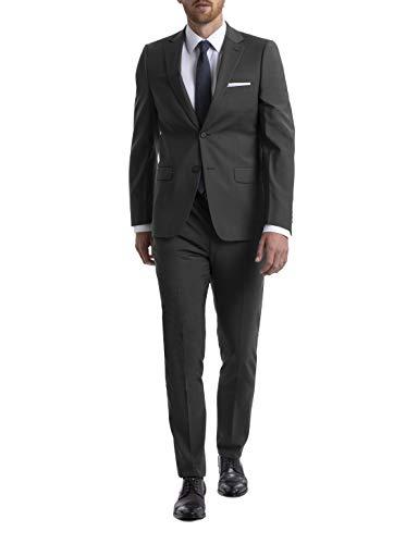 Calvin Klein Men's Long Skinny Fit Stretch Suit, Charcoal, 40L