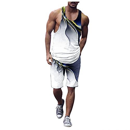 Corlidea Camiseta de tirantes para hombre, camiseta deportiva para entrenamiento