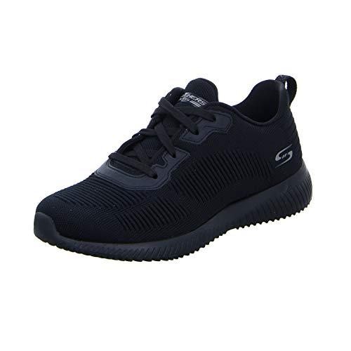 Skechers Women's BOBS Squad-Tough Talk Sneakers, Black (Blac
