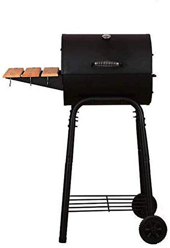 Charcoal Grill Premium Charcoal Grill Cast Iron Grill Large Picnics Patio Grill Barbecue Charcoal Grill With Offset Smoker Home Courtyard Outdoor Thickened Charcoal Grill Black