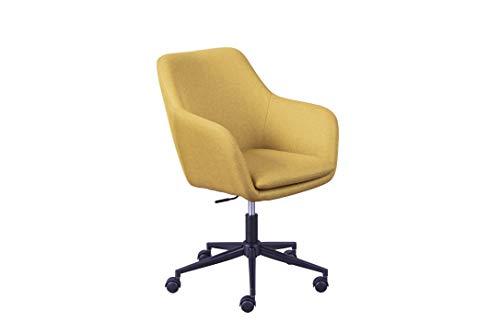 Inter Link Trend Drehstuhl Bürostuhl Homeoffice Schalensitz Höhenverstellbar Sicherheitsrollen Curry