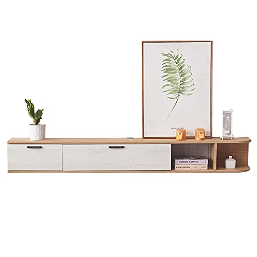 Mesa Televisión Mueble para TV Montado En La Pared para Sala De Estar,Fácil de limpiar no ocupa espacio en el piso Estructura de riel de madera Durable Exquisito, Sala de estar Dormitorio Almacenami