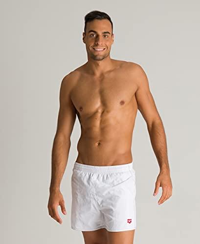 ARENA Bywayx Pantaloncino Mare da Uomo, White-Black-Red/Bianco, 3XL