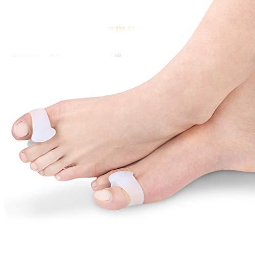 Bfmyxgs Protective Toe Separators und Spreizer für Bunion überlappende Zehen Schmerzpads Gesundheitswesen Fußpflege (S, A)