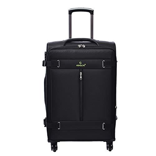 Niet van het merk Trunk Oxford Doek Zakelijke koffer, Caster Suitcase, 20, 24 Inch Zwarte Trolley kofferbak