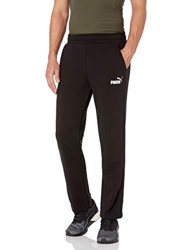 PUMA Men's Essentials Logo Pant, Black, Medium