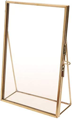 SHANGUP Retro Metall Glas Hängende Bilderrahmen Bildergalerie Fotogalerie Foto Collage Galerie fit für DIY Dekoration (5 x 7 Zoll)